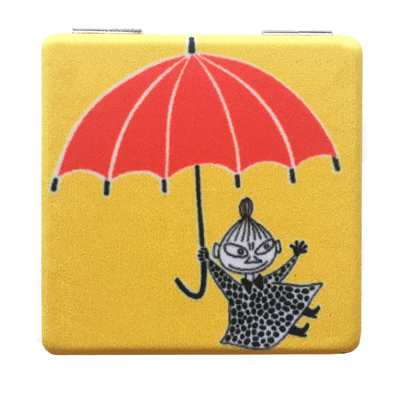 Moomin compact mirror Little My & umbrella