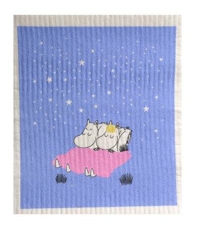 Moomin dishcloth Good Night