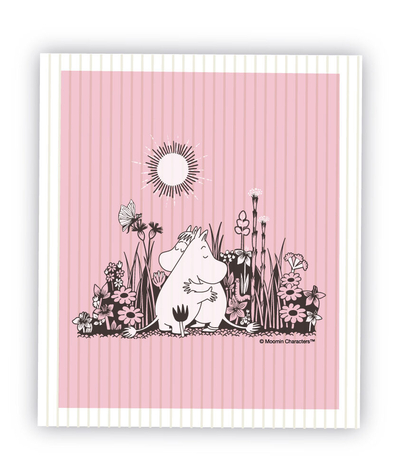 Moomin dishcloth Hug, light pink