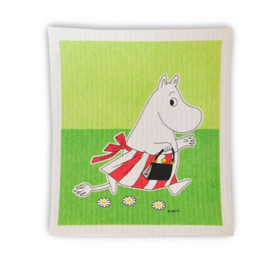 Moomin dishcloth Moominmamma green
