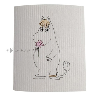 Moomin dishcloth. Snorkmaiden, white