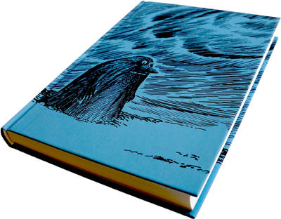 Moomin domestic notebook, the Groke, blue