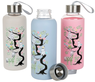 Moomin drinking bottle with silicone surface Climbing tree, different colors, 0,45l