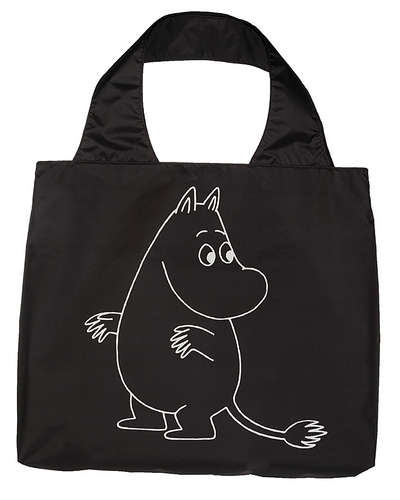 Moomin eco bag Moomintroll, black