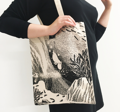 Moomin eco bag dive, recycled cotton
