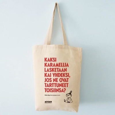 "Moomin ecological shopper bag ""Kaksi karamellia"""
