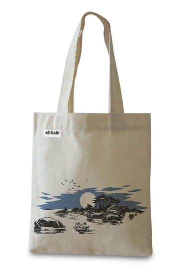 "Moomin fabric bag / eco bag ""Sea adventure"", blue"