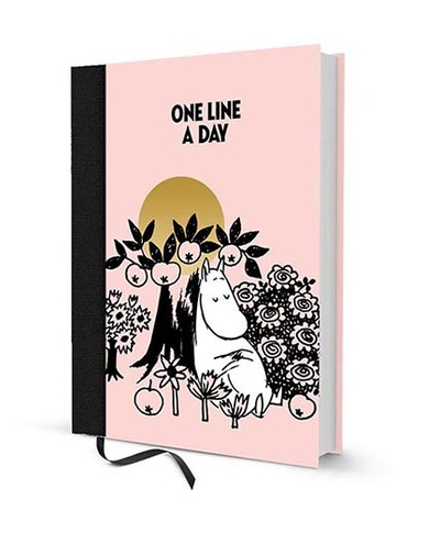 "Moomin five year calendar ""One line a day"", 13x17cm"
