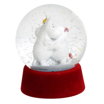 Moomin glass snow globe, Love