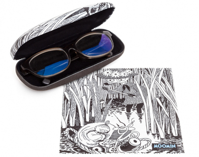 Moomin glasses case with a cleaning cloth, Little My
