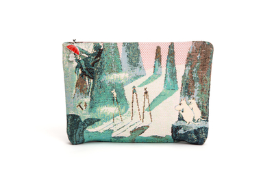 Moomin gobelin pouch / makeup bag, Comet in Moominland, colorful