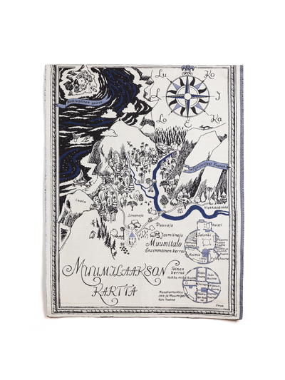 Moomin gobelin tapestry / tablecloth 68x92cm, The Map of Moominvalley