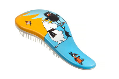 Moomin hair brush for detangling, Winter, blue