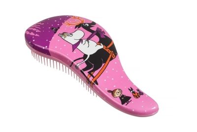 Moomin hair brush for detangling, Winter, pink
