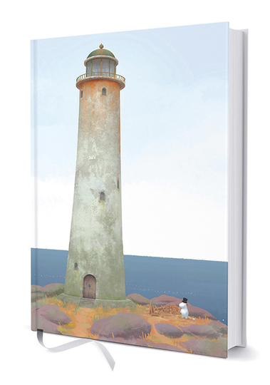 Moomin hardcover notebook, Moominpappa and the Lighthouse