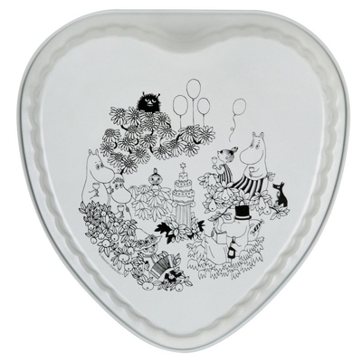 Moomin heart-shaped cake mold, Garden