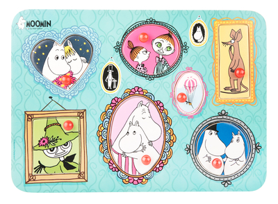 Moomin knob puzzle, Paintings