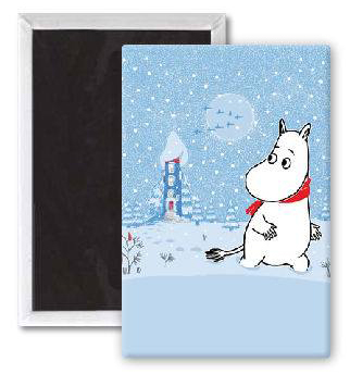 Moomin magnet, Moomintroll in the snow