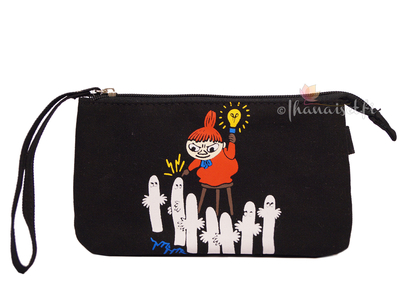 Moomin makeup bag, Little My & Hattifatteners