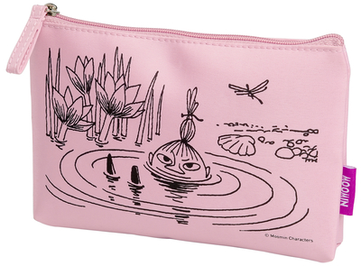 Moomin makeup bag, Little My in a puddle
