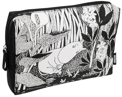 Moomin makeup bag, Moomintroll dreams, black