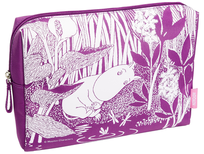 Moomin makeup bag, Moomintroll dreams, purple