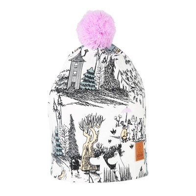 Moomin mangrove beanie with a tuft, purple