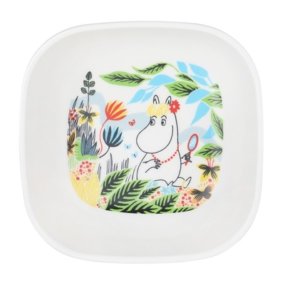 Moomin meadow bowl, square