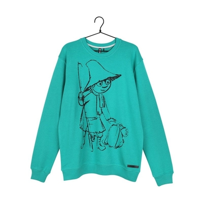 Moomin men's Sketch jersey knit Snufkin, green