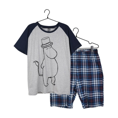 Moomin men's shorts pajamas Sketch, blue
