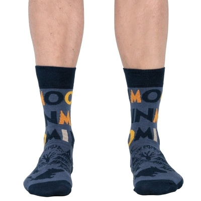Moomin men's socks, Moonlight, black/blue