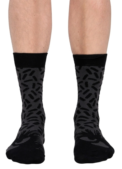 Moomin men's socks, Stinky's gaze, black/grey
