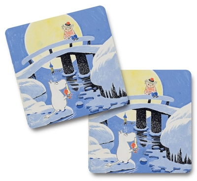 Moomin midwinter coasters, 4pcs