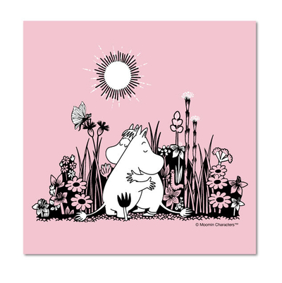 Moomin napkins 33x33, Hug, light pink