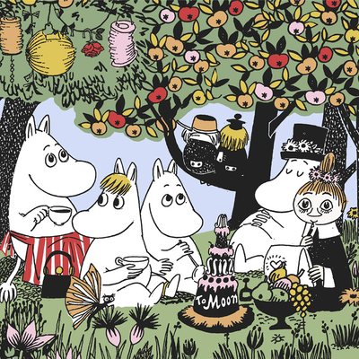 Moomin napkins 33x33, Party
