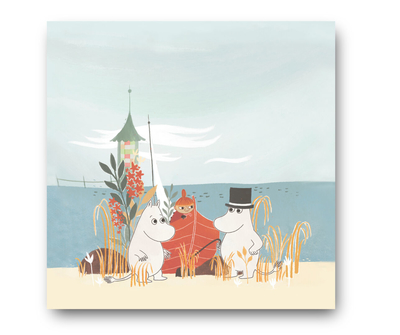 Moomin napkins 33x33cm #OURSEA, Boat on the beach