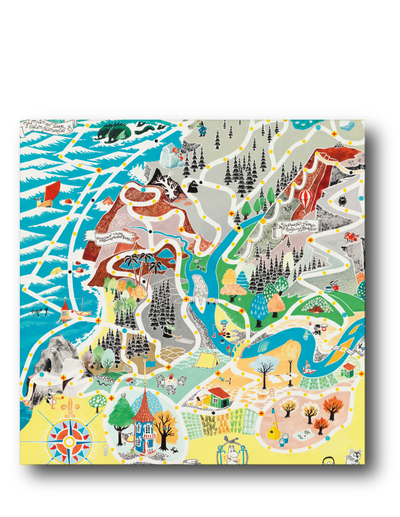 Moomin napkins Japan Map, 33x33cm