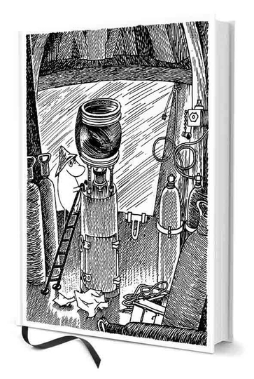 Moomin notebook Moomin Lighthouse A5, black/white
