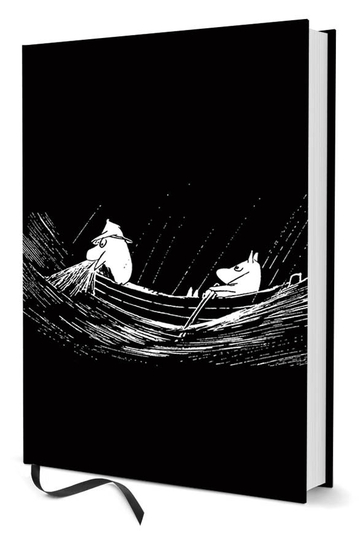 Moomin notebook Rowers A5, black/white