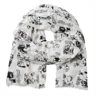 Moomin on vacation scarf, white