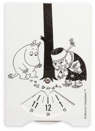 Moomin parking disc, Muddler's button collection
