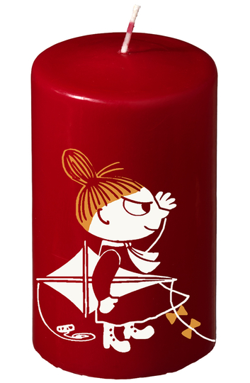 Moomin pillar candle Little My, red