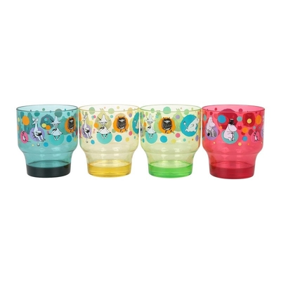 Moomin plastic cups set of 4pcs