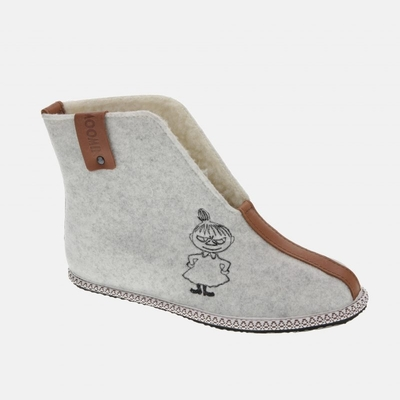 Moomin plimsolls slippers Eea Little My, white, with inner lining