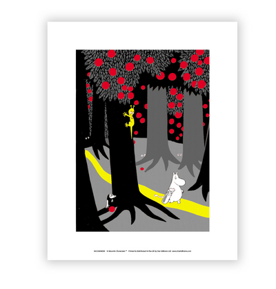 "Moomin poster ""Moomin in the forest"" medium sized 28x30cm"