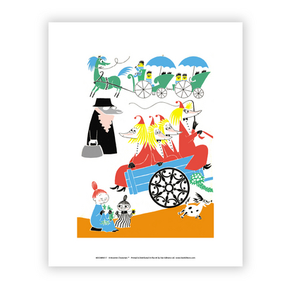 "Moomin poster ""Moomins' party"" medium sized 28x30cm"