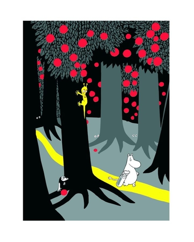 "Moomin poster  ""Forest path"" 24x30cm"