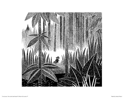 Moomin poster Toffle in the forest, 24x30cm