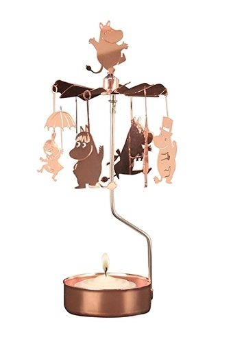 Moomin rotary candle holder, Moomin family, copper