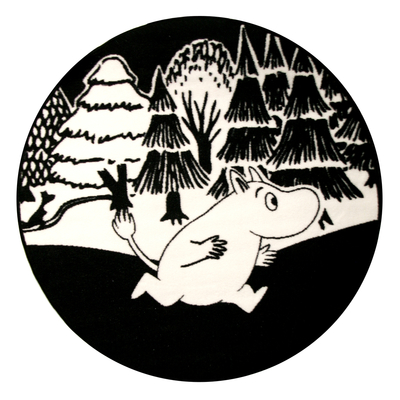 "Moomin rug ""Moomin forest"", 100cm round"